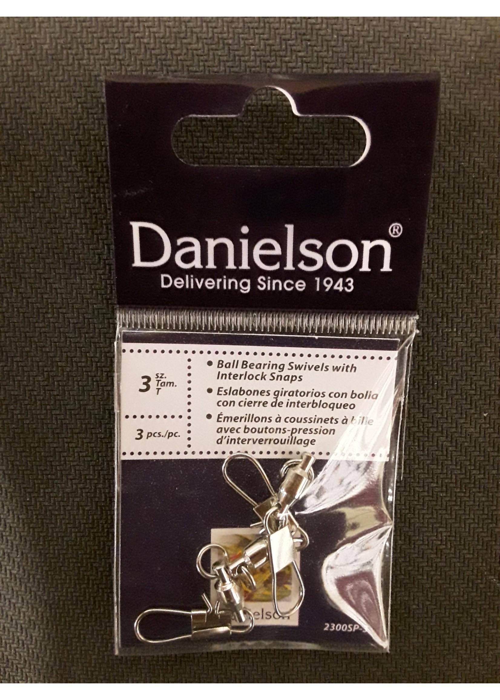 Danielson Danielson BB SWIVEL W/SNAP 3L 3pk