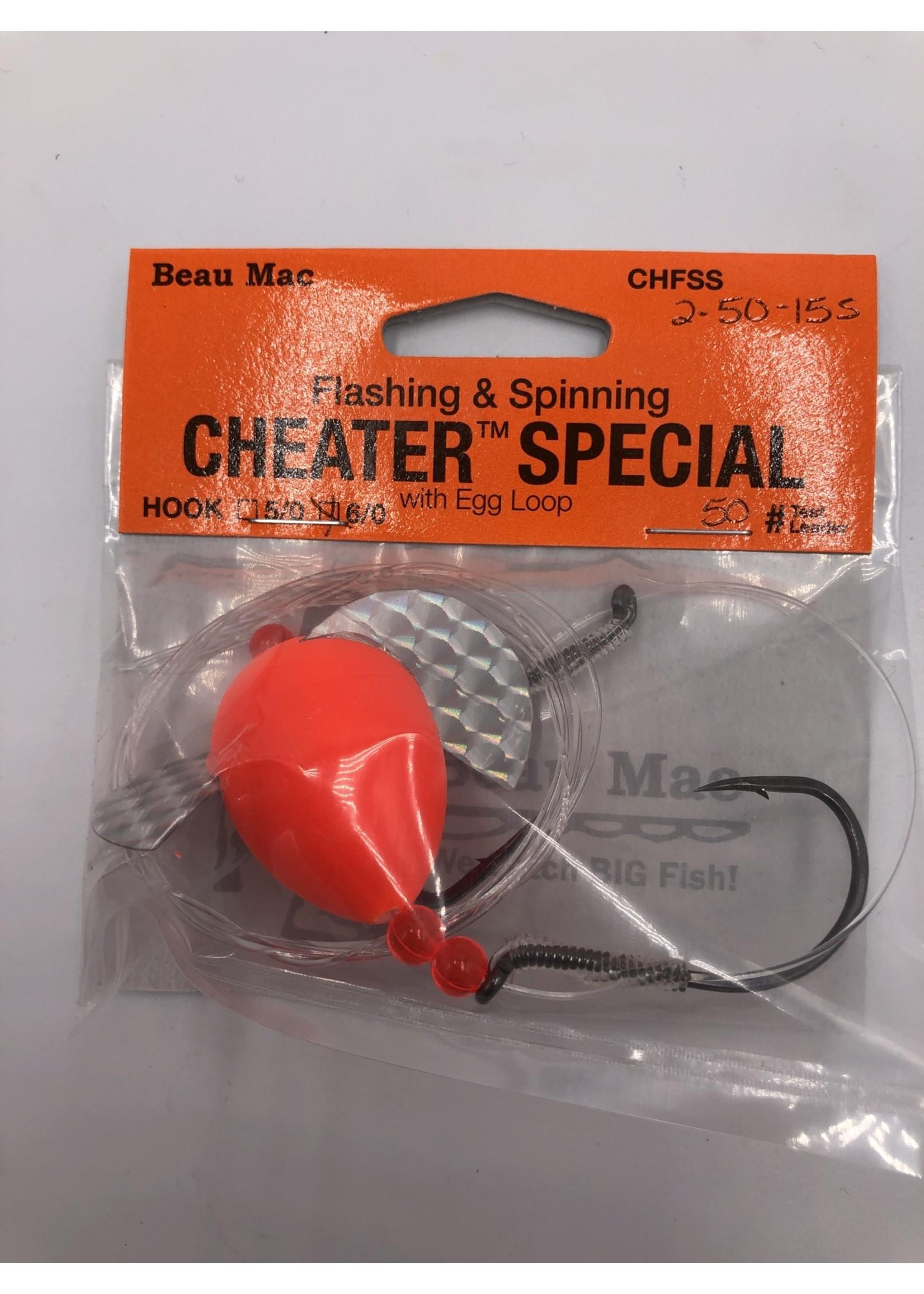 Beau Mac Enterprises F&S Cheater Spec sz 2 50-lb Dbl 6/0 Hook