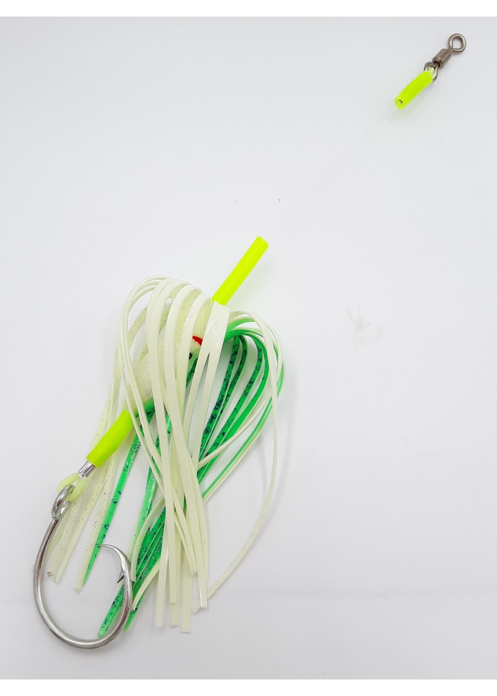 "B&J Sporting Goods B&J Squid Rig  6"" Glow/Grn UD 16/0"