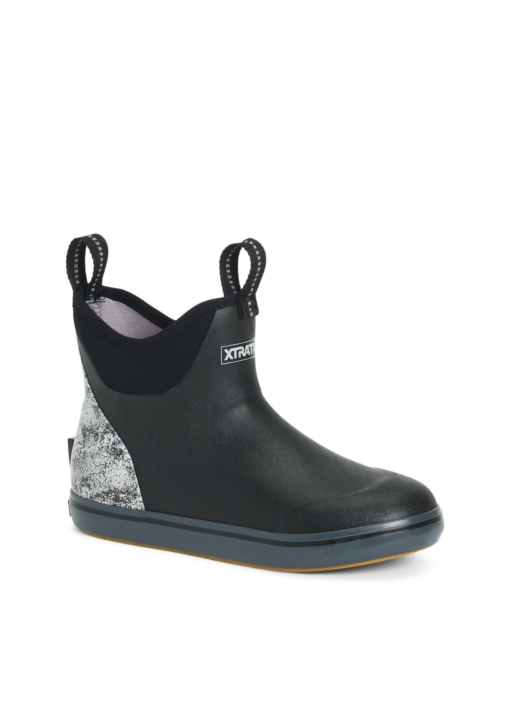 """XTRATUF XtraTuf Women's 6"""" Ankle Deck Boot Blk Scales"""