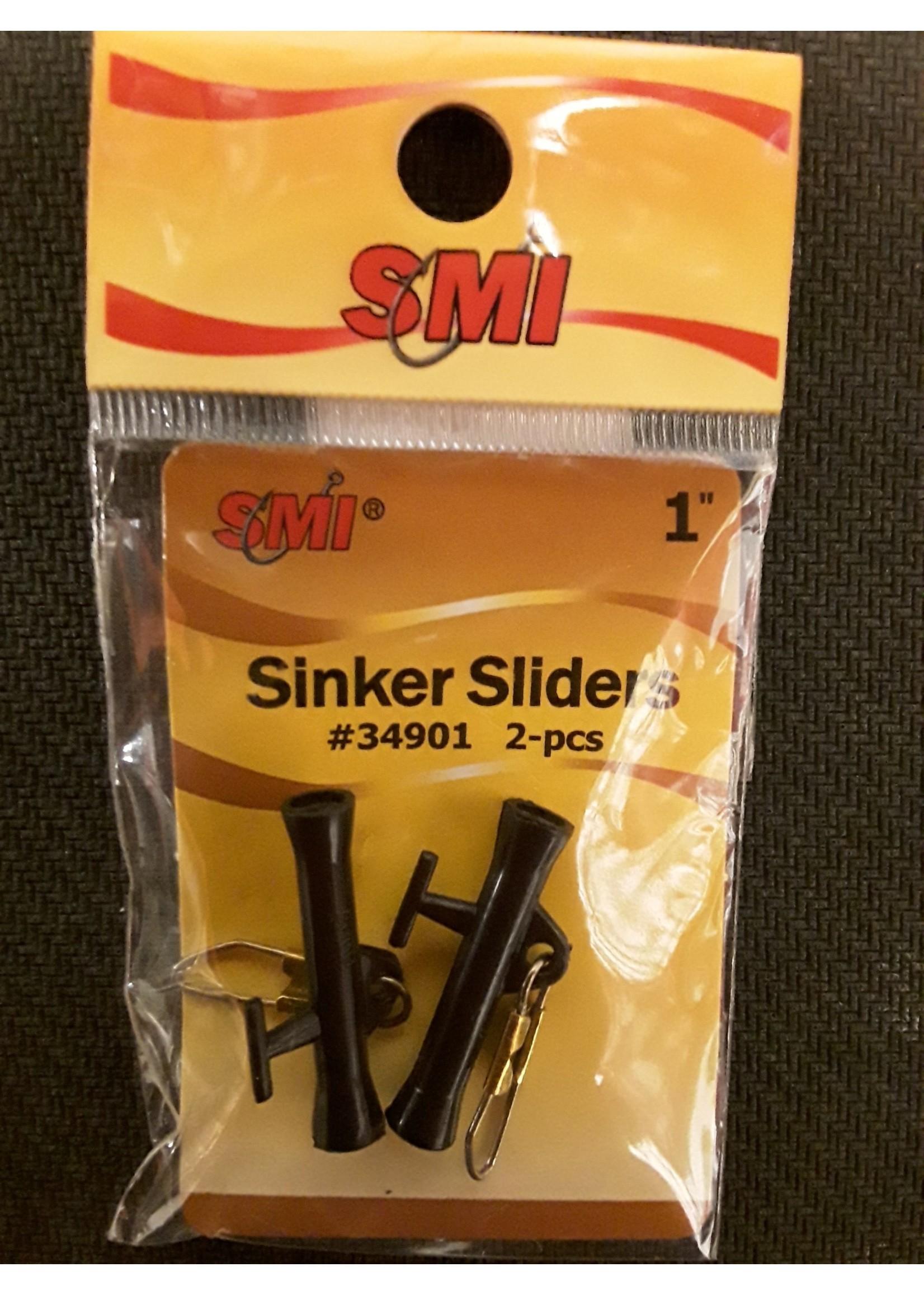 """SMI SMI Sinker Sliders 2-pk Black sz 1"""""""