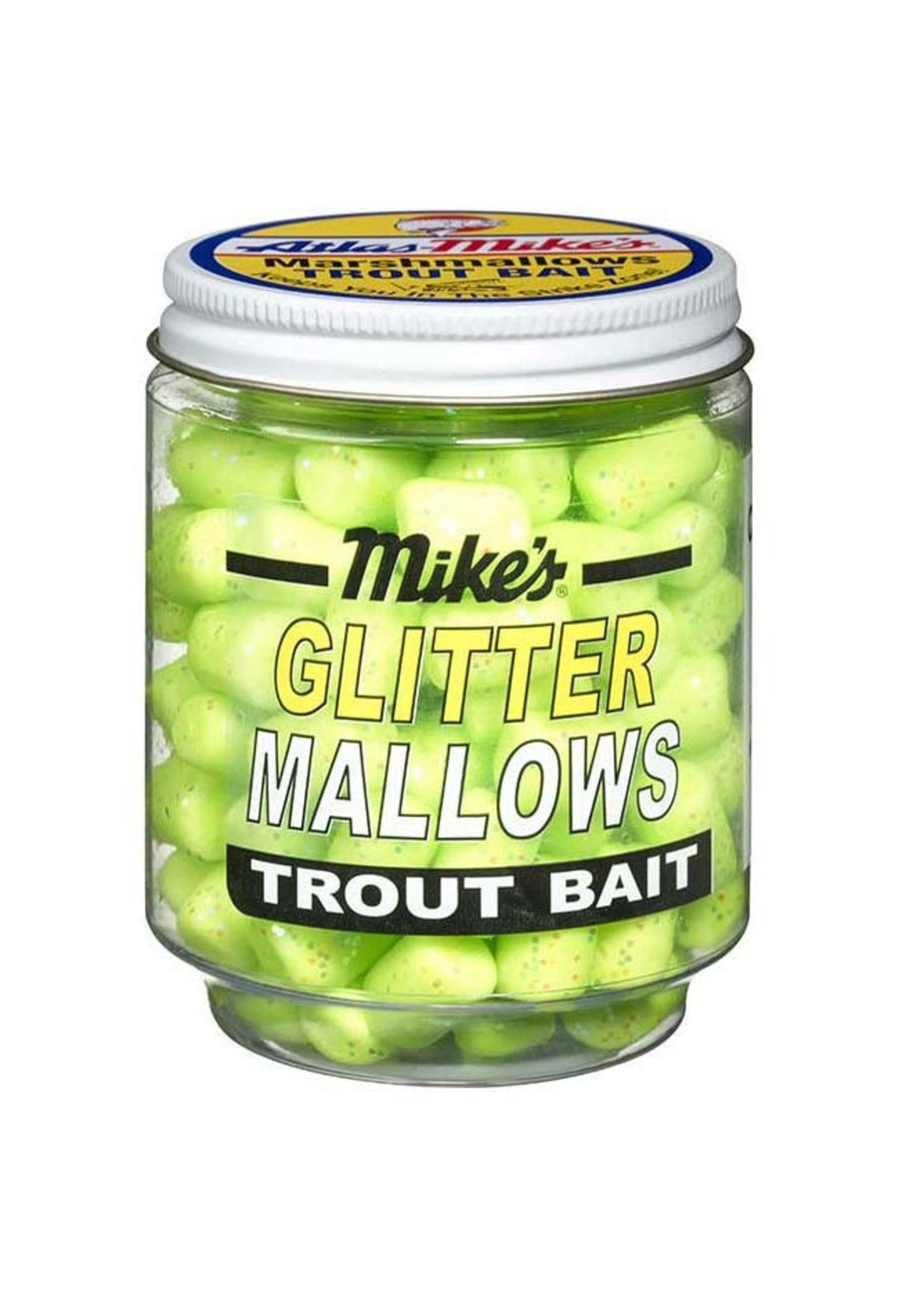 Atlas-Mike's Atlas-Mike's 32039 Glitter Mallows Chartreuse/Garlic 1.5oz Jar