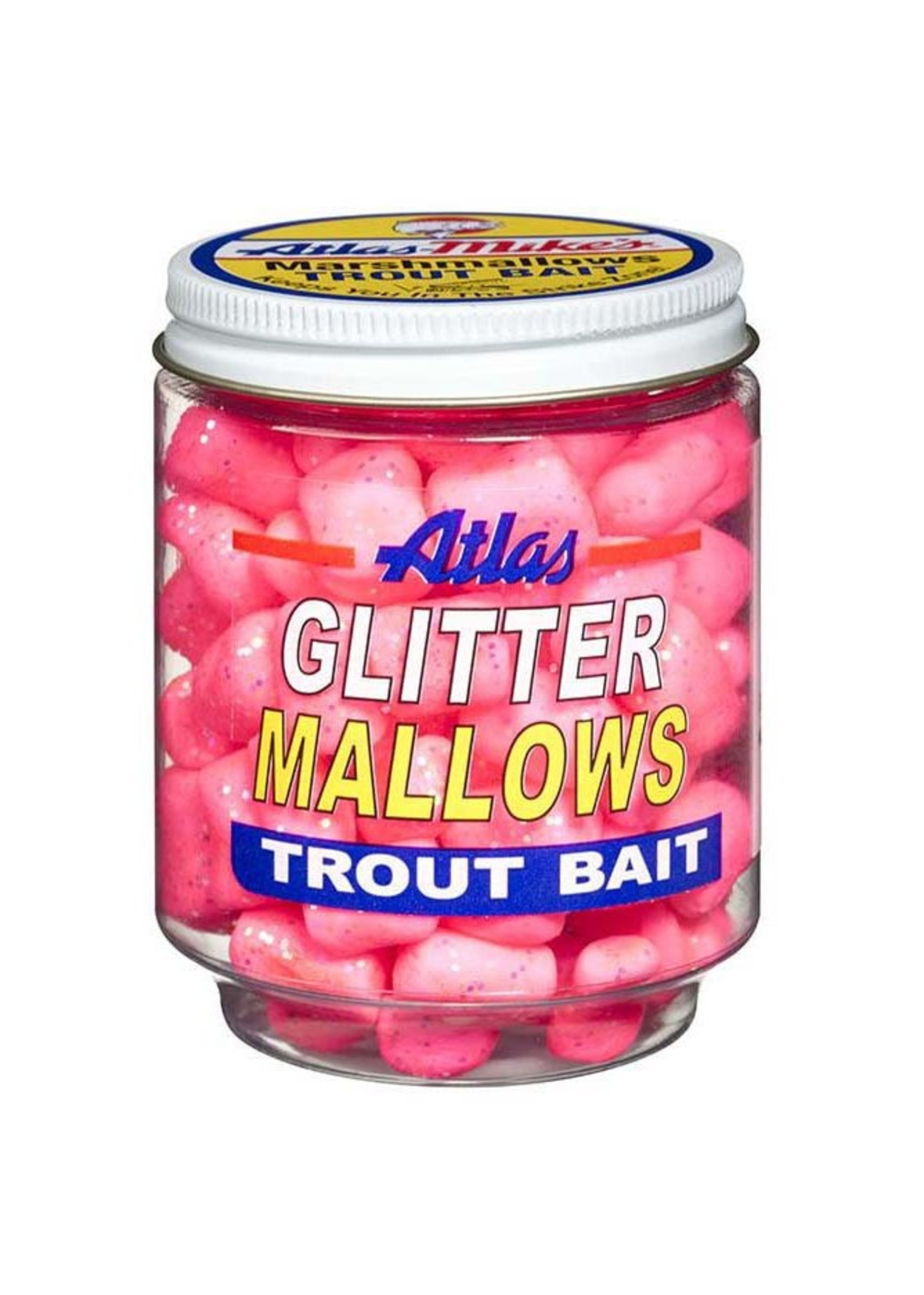 Atlas-Mike's Atlas-Mike's 32035 Glitter Mallows Pink/Shrimp 1.5oz Jar