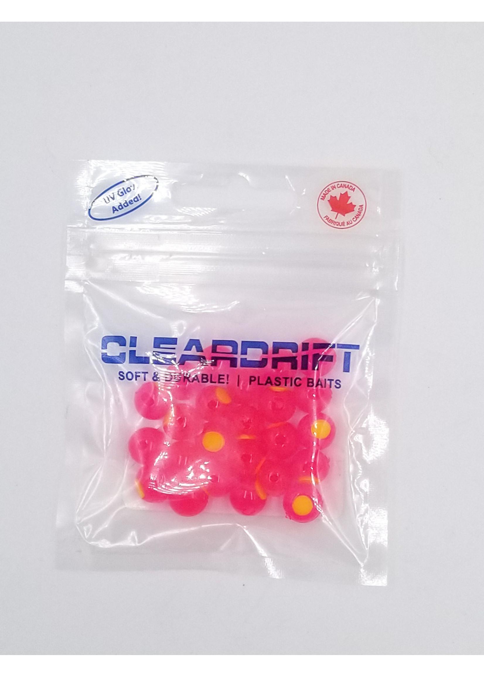 Cleardrift Cleardrift Embryo Soft Beads Cerise w/Chart Embryo 8mm