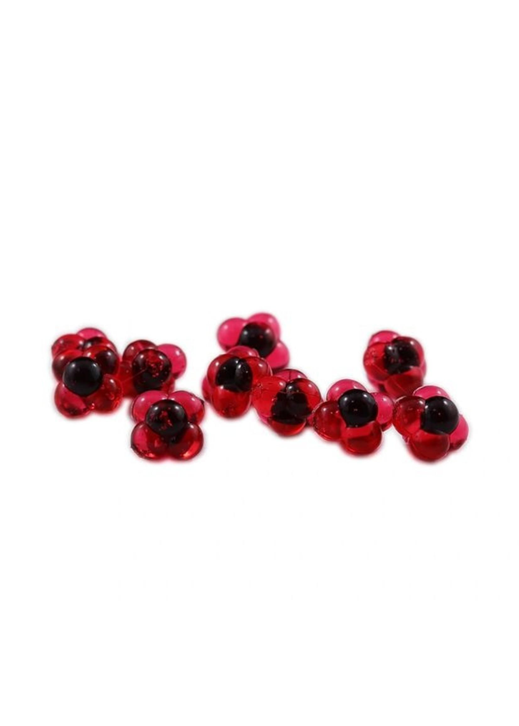 Cleardrift Cleardrift Embryo Egg Clusters Lg Cherry Red w/Blk Embryo