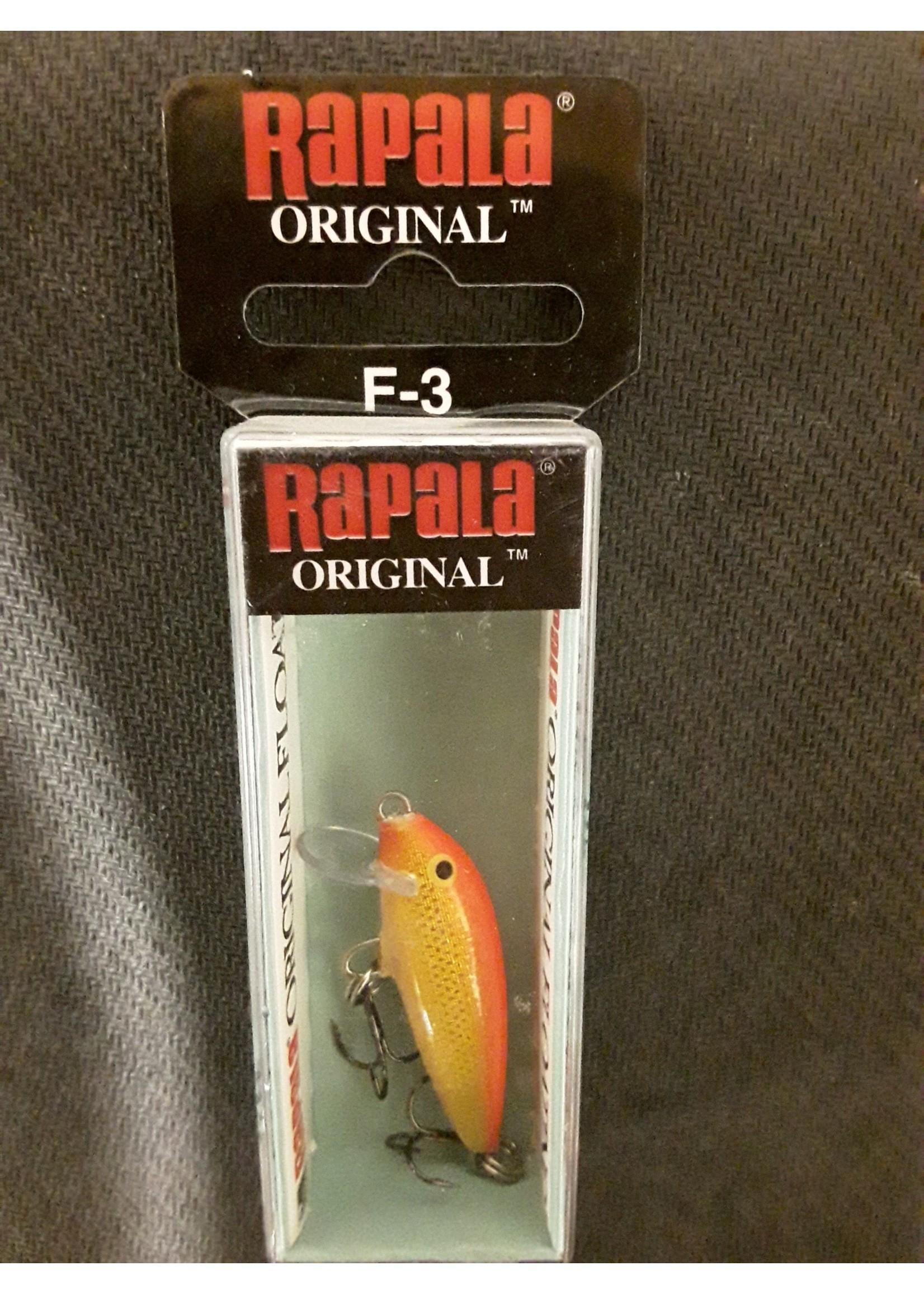 Rapala Rapala Original Floater 03  Gold Fluorescent Red