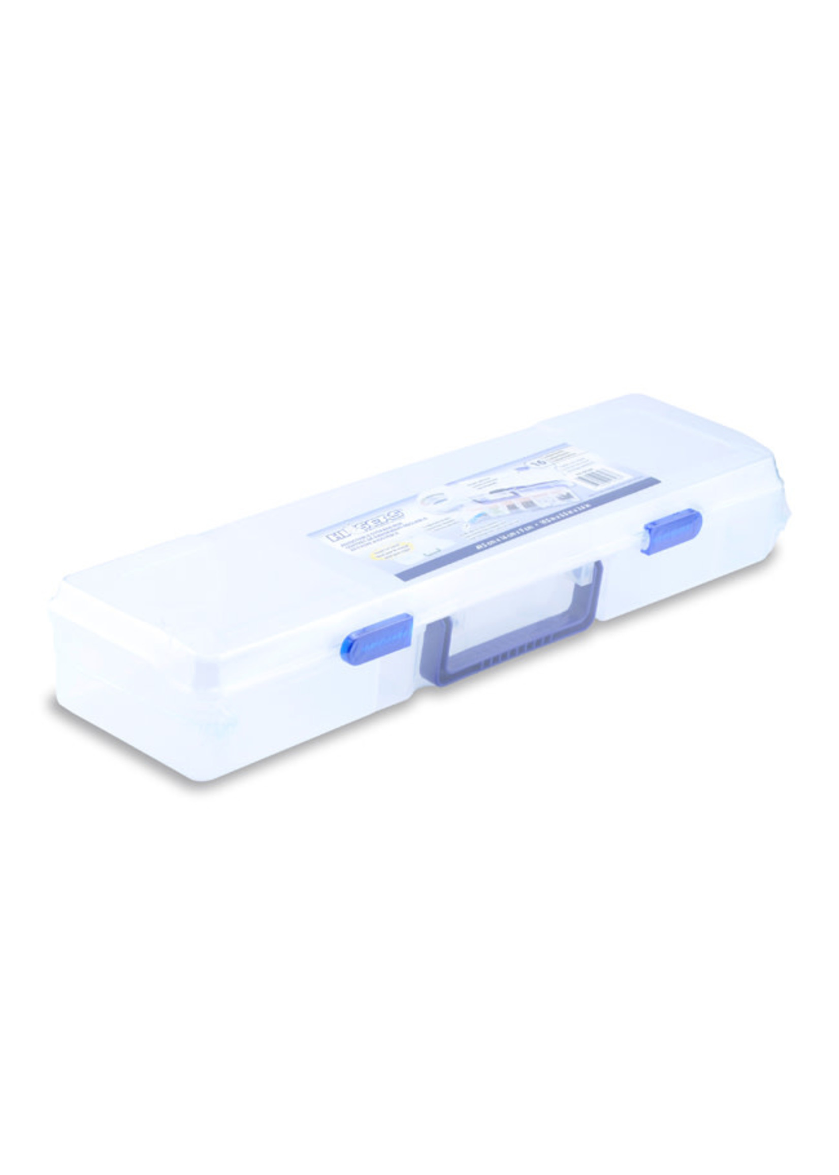 """Tackle Box 12 Moveable Dividers 1 Removable Tray 19.5""""x 5.5"""" x 3.63"""""""