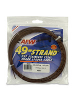 """49 Strand Stainless Steel Shark Leader Cable 600 lb .072"""" Camo 30 ft"""