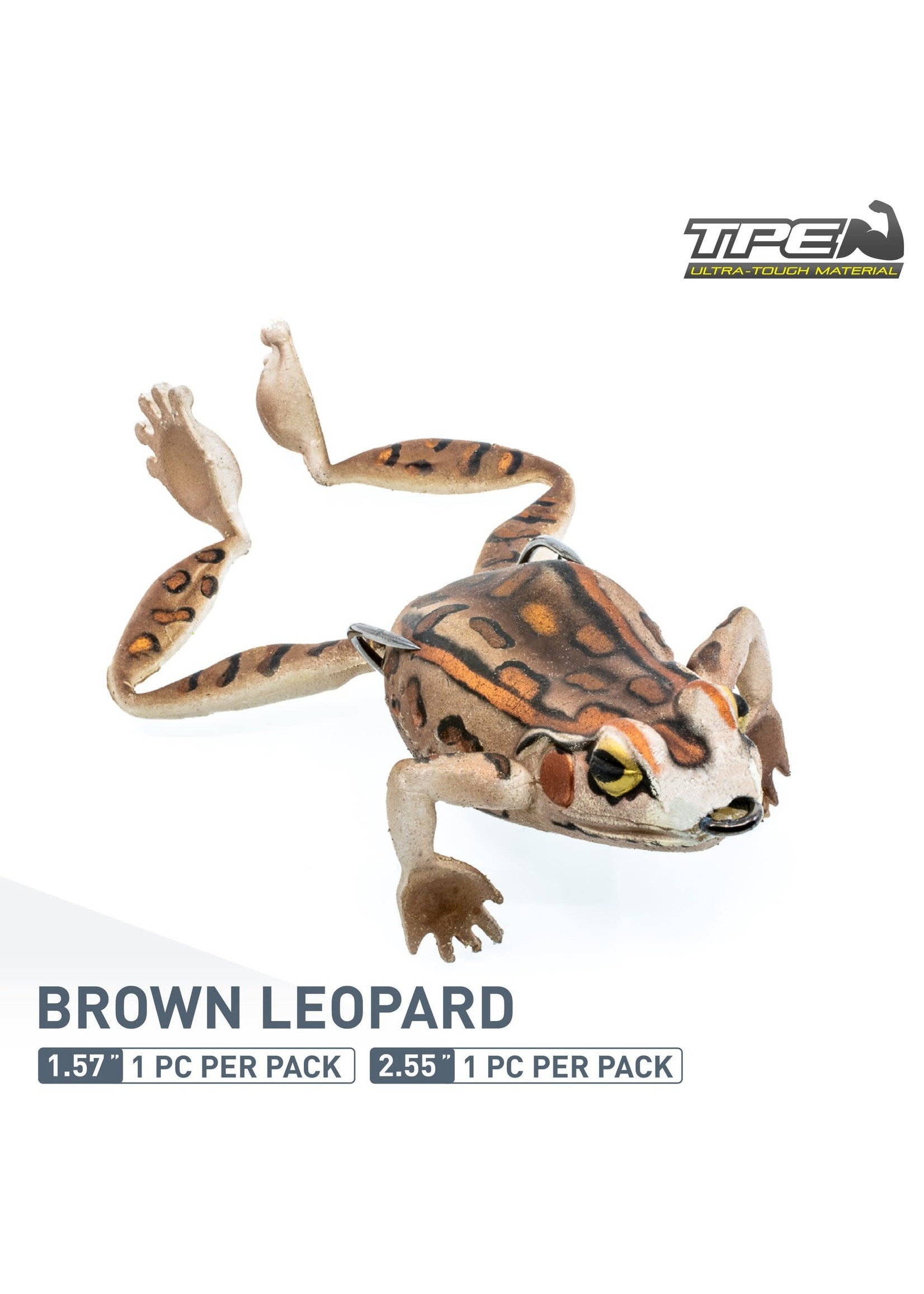 "ChaseBaits Big Bobbin Frog Brn Leopard 2.55"""