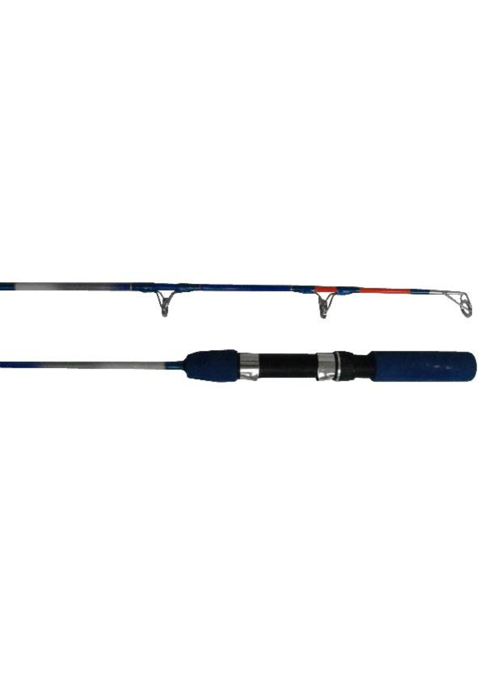 """ICE BLUE TROUT ROD - HEAVY ACTION - 24"""" LONG WITH LARGE 20MM GUIDES"""