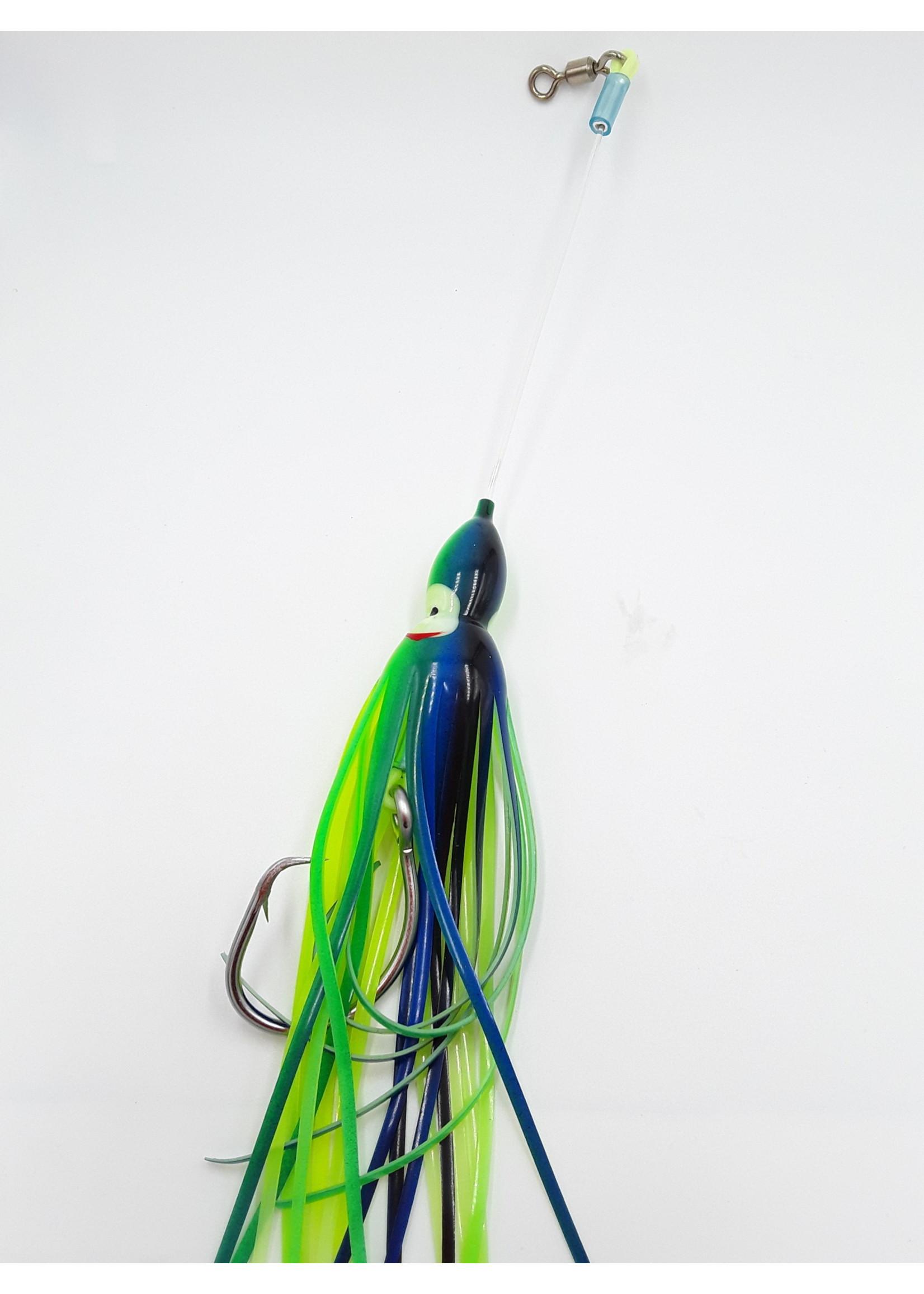 B&J Sporting Goods B&J Squid Rig Grn/Blue 16/0
