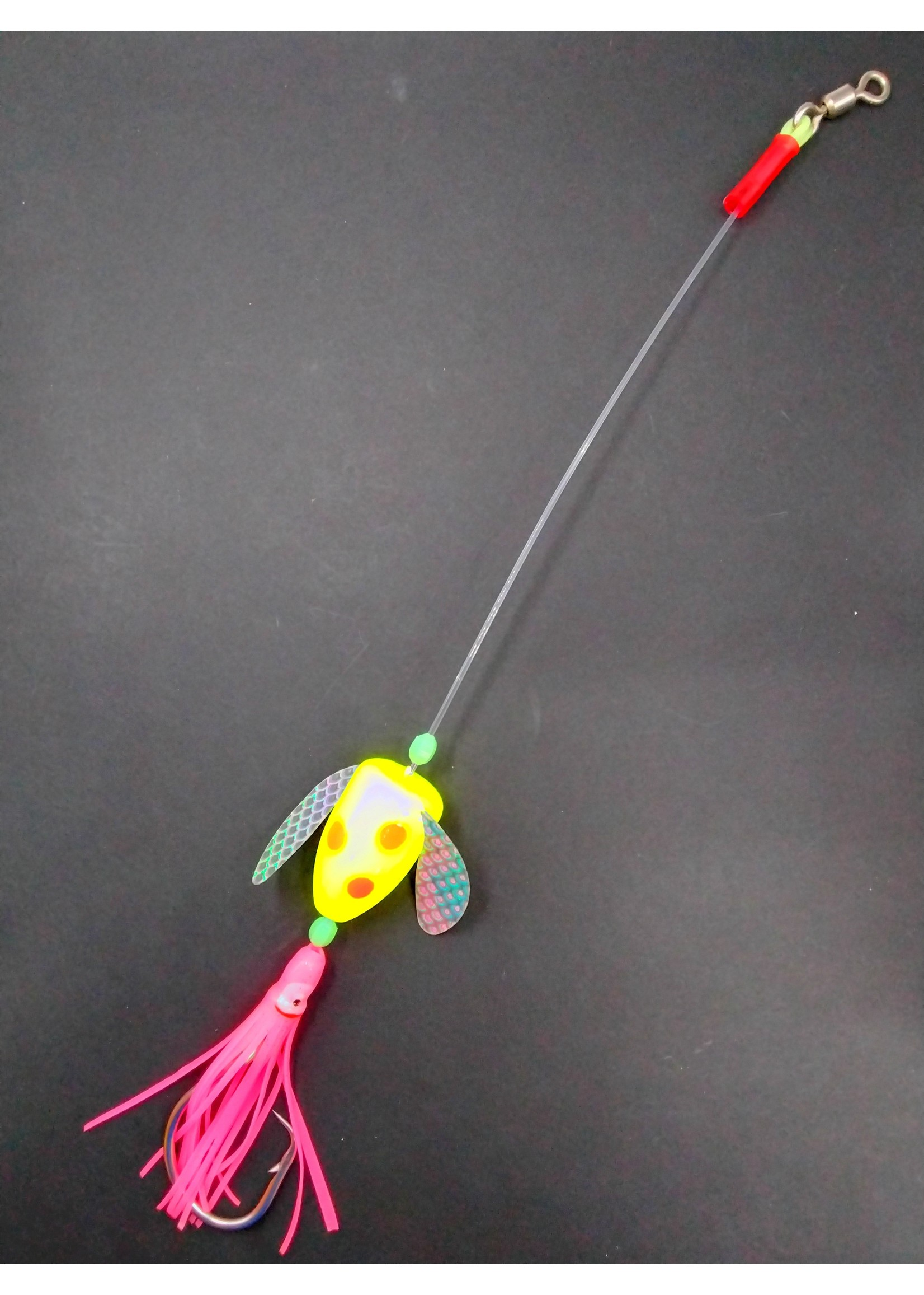 B&J Sporting Goods B&J Rigs Spin n Glo Yell/Or/Pink