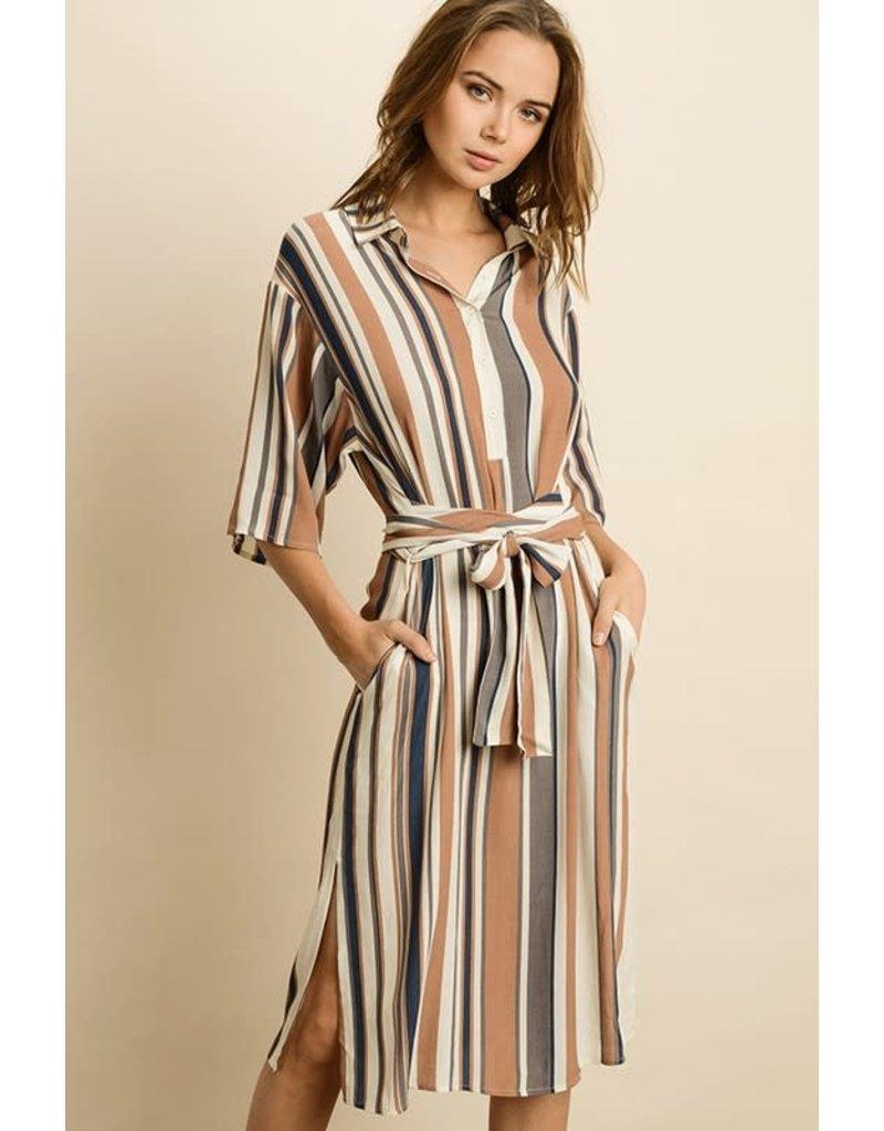 Endless Stripe Midi Dress