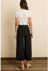 Pinstripe High-Waisted Crops