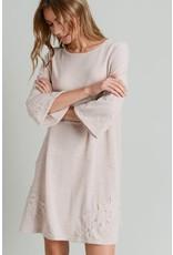 Crochet Trim Flare Knit Dress