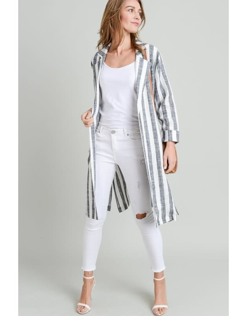 Split Side Longline Blazer