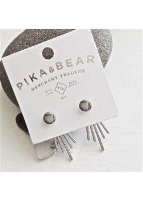 Pika & Bear Halycon Silver Stud with Cascading Ray Back
