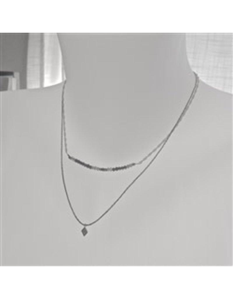 Pika & Bear Diamond Dog Double Strand Bead Necklace