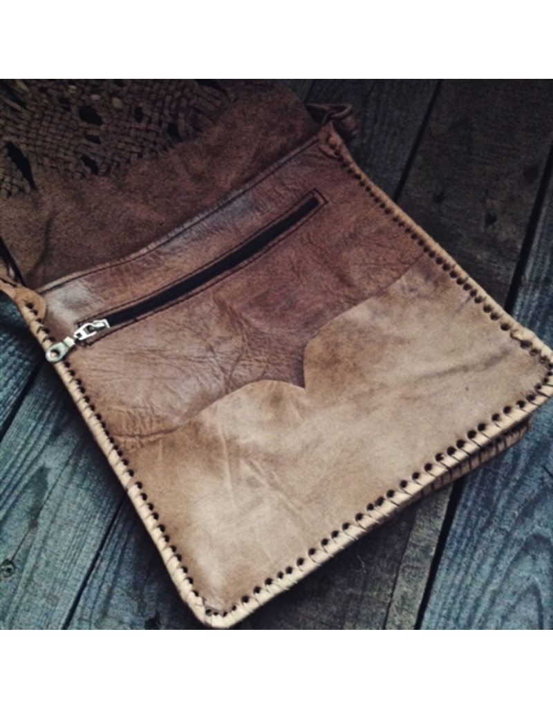 Pika & Bear Ashbury Handmade Genuine Leather Fringed Purse
