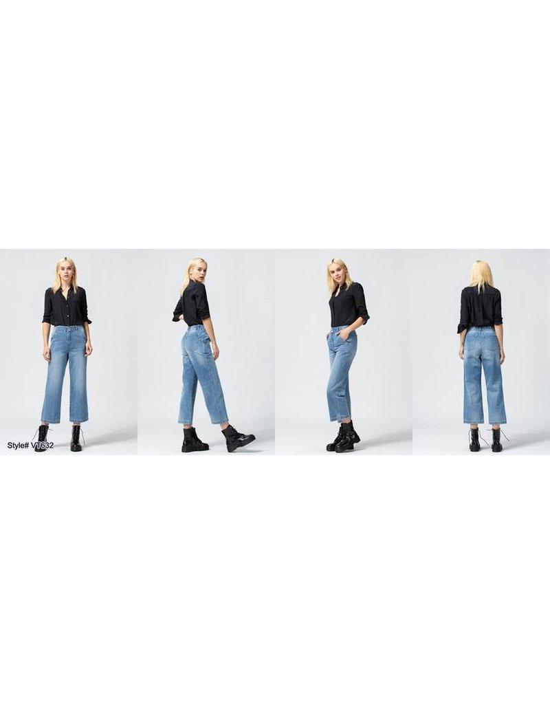 Vervet Super High Rise Slim Crop Wide Leg