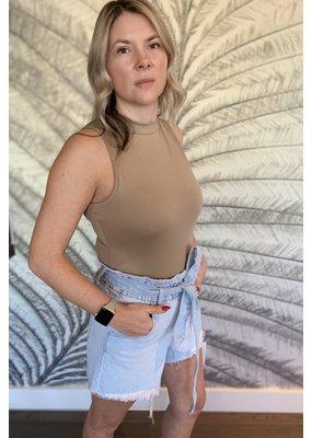 Vervet Paper Bag Mom Shorts