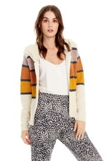 saltwater Luxe Front Zip Stripe Sweater