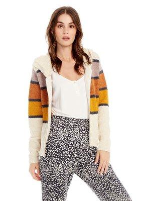 saltwater Luxe Front Zip Stripe Sweater