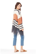 saltwater Luxe Fringe Clay Sweater