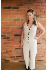 RD International Ang Linen Blend Jumpsuit