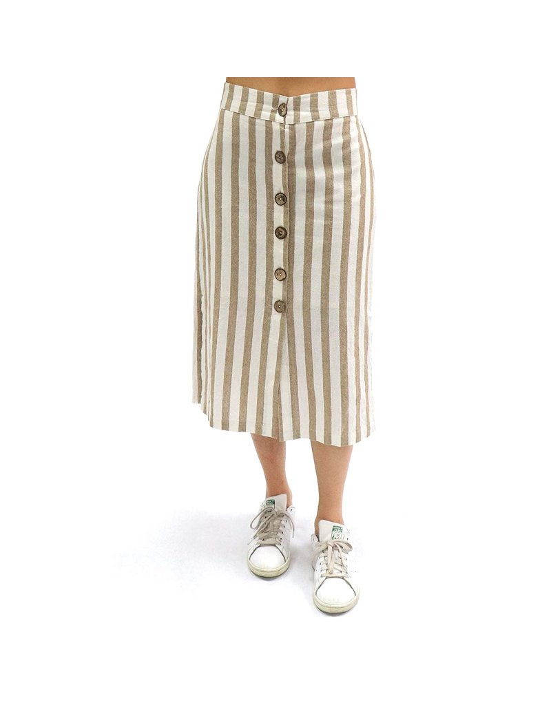 RD International Cream Woven Skirt
