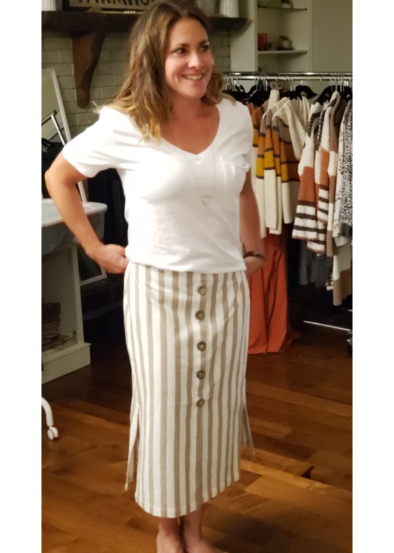 RD International Cream Woven Skirt