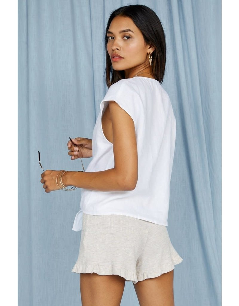 Sage The Label City of Palms Front Tie Top