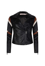 Esqualo Lines Pleather Jacket