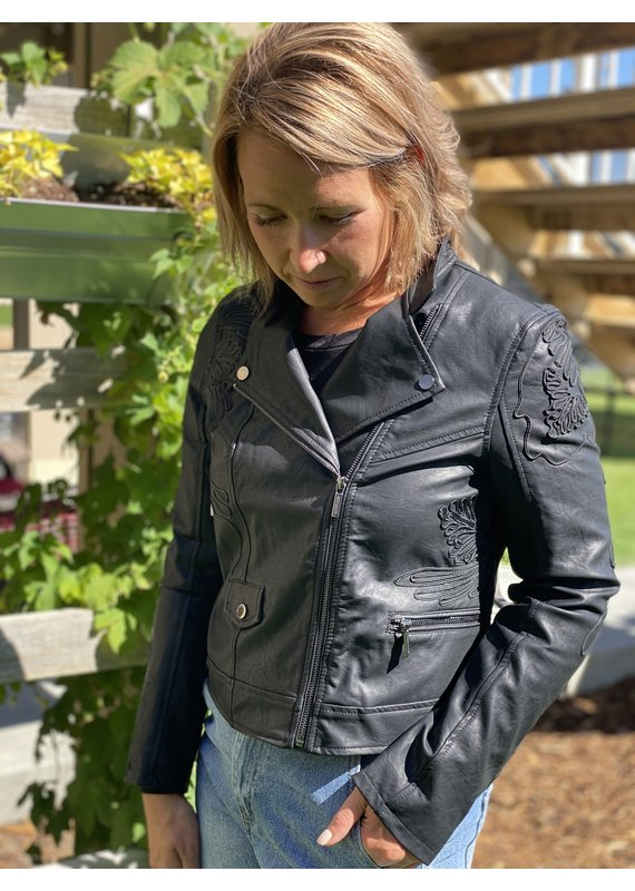Esqualo Natalie Pleather Jacket