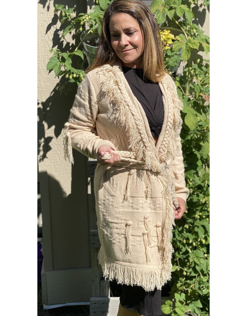 Esqualo Fringes and Knots Cardigan