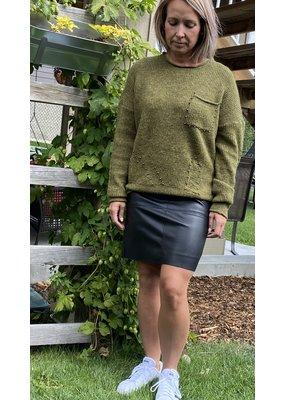 Esqualo Pleather Pencil Skirt
