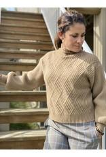 Oat NY Mock Neck Fence Sweater