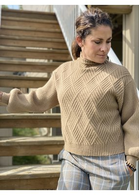 Oat NY Mock Neck Fence Sweater