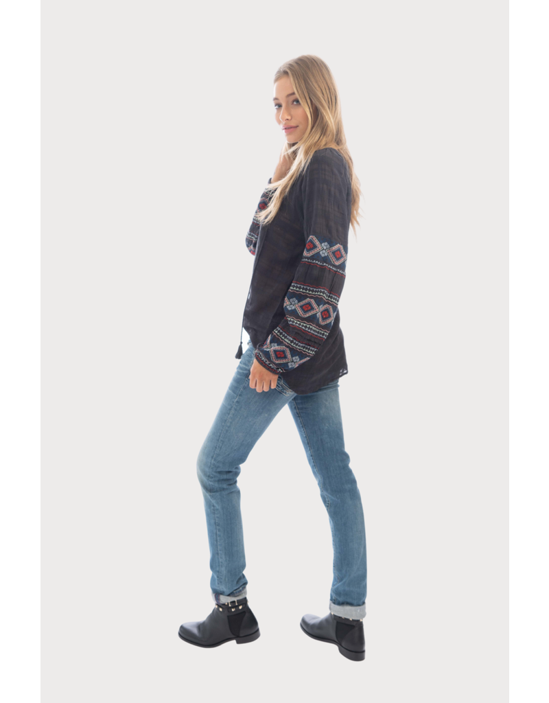 Dylan Tala Embroidered Tunic