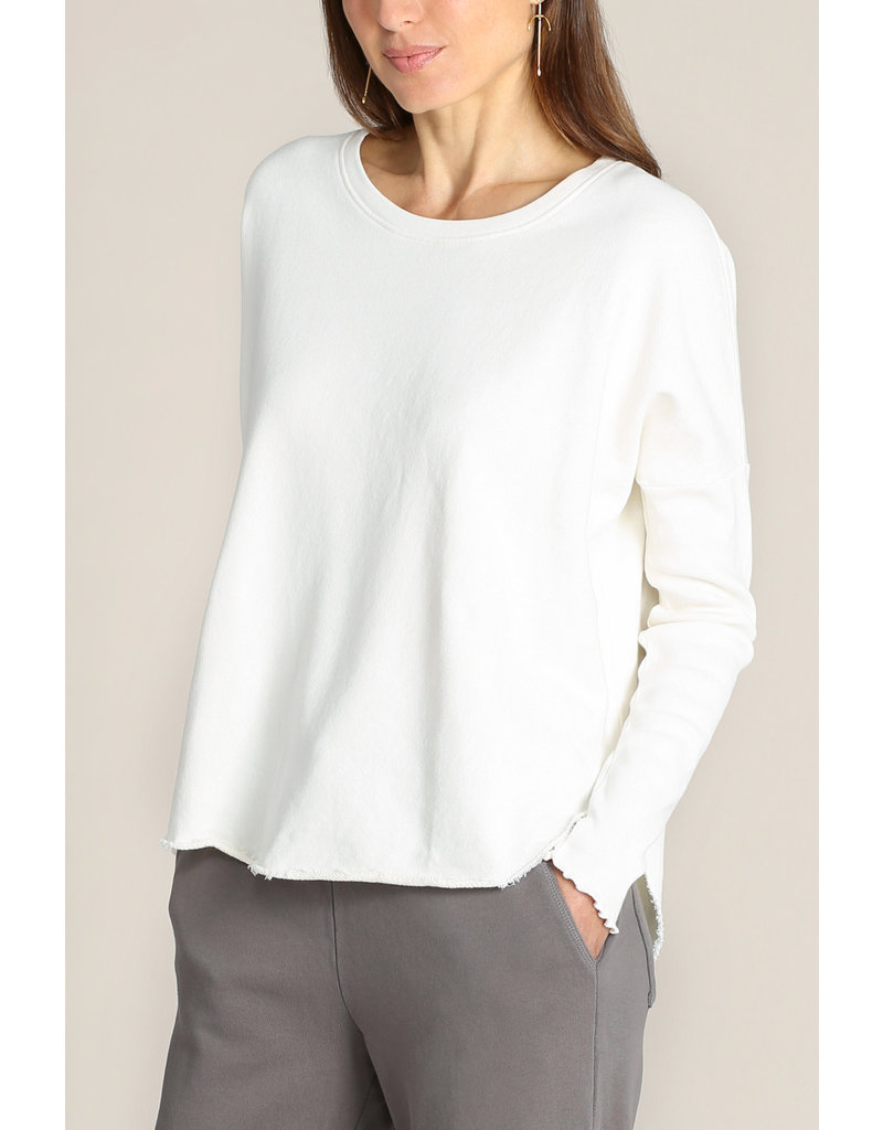 Mododoc Drop Shoulder Rib Sleeve Sweatshirt