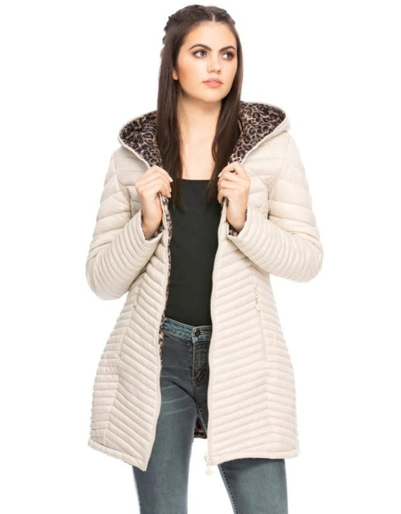 Salt and Lime Quilted Leopard Reversible Jacket
