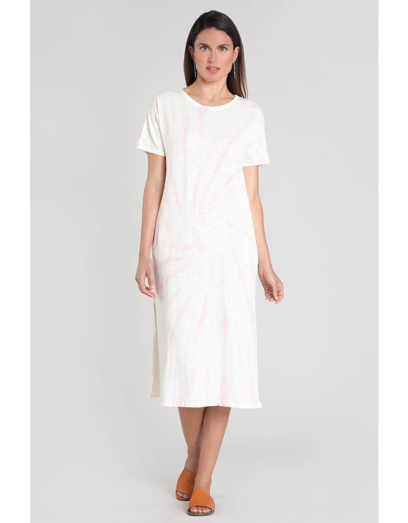 Mododoc Tie-Dye Midi Tee Shirt Dress