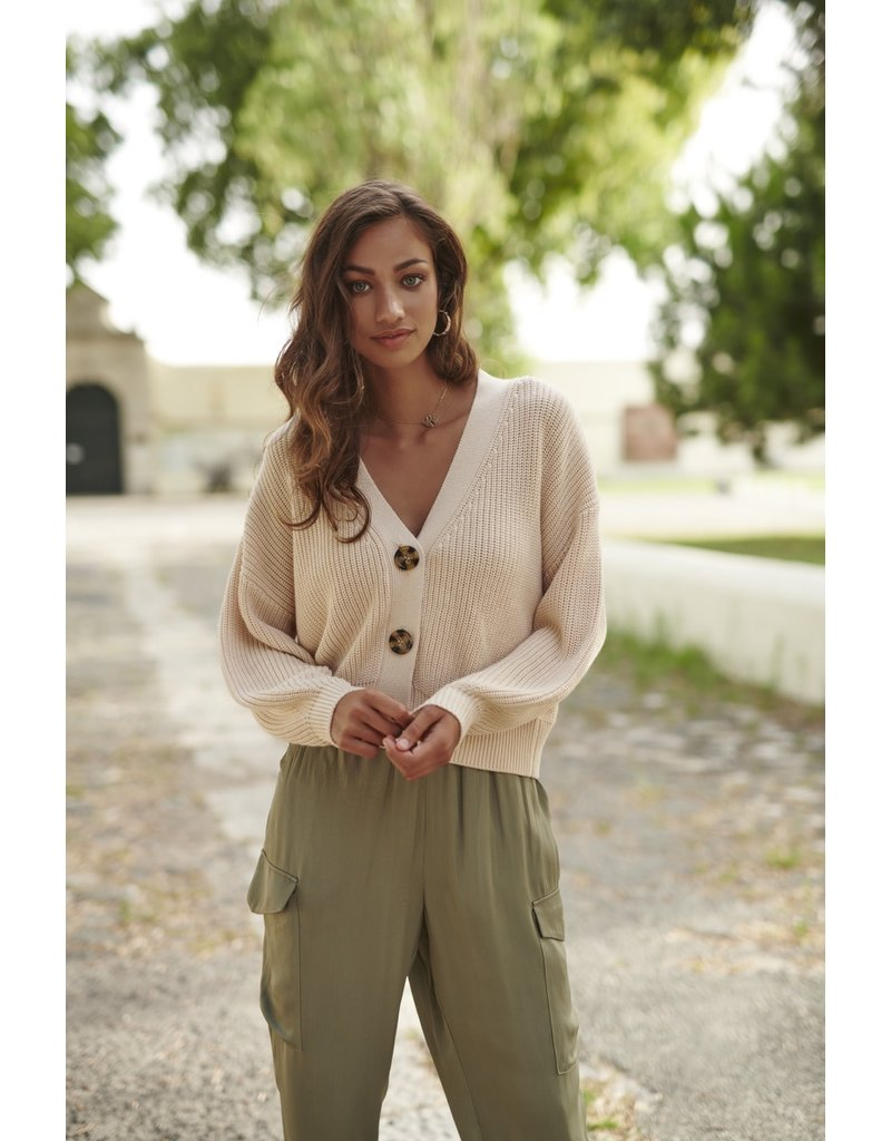 Esqualo V-Neck Short Cardigan