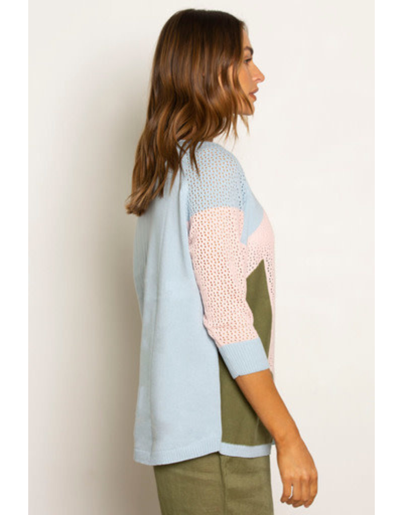 Zaket and Plover Pointelle Star Sweater