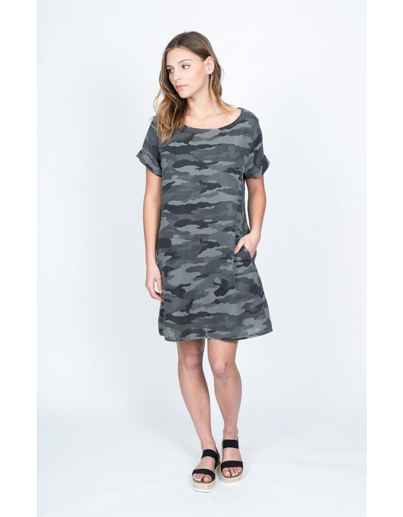 Dylan Double Weave Camo Dress