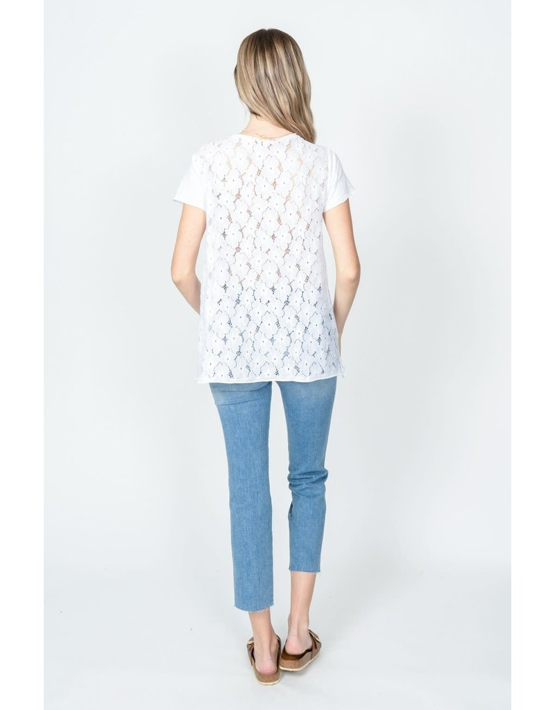Dylan Lace Floral Top
