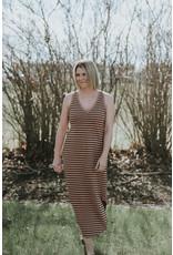 Dylan Stripe V-Neck Dress