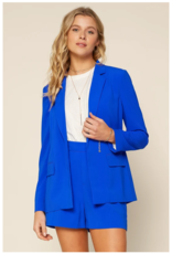 Skies are Blue Neon Welt Pocket Blazer