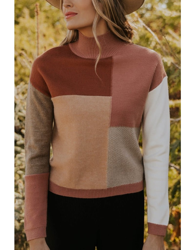 Roolee See you again colorblock sweater