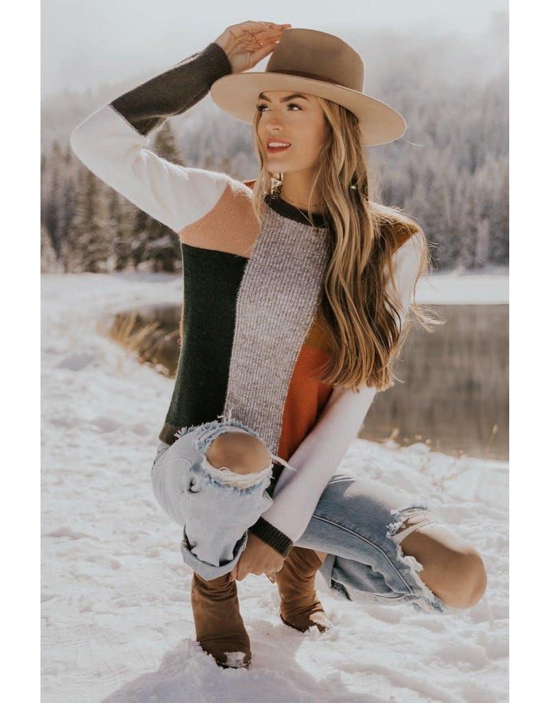 Roolee Tasha Colorblock Sweater
